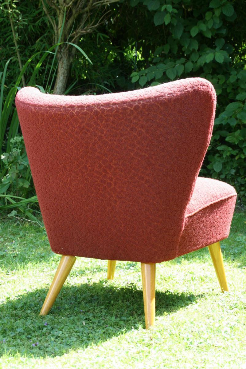 Roter 60iger sessel villa sch nsinn atelier mehr wohnen for Sessel 60iger
